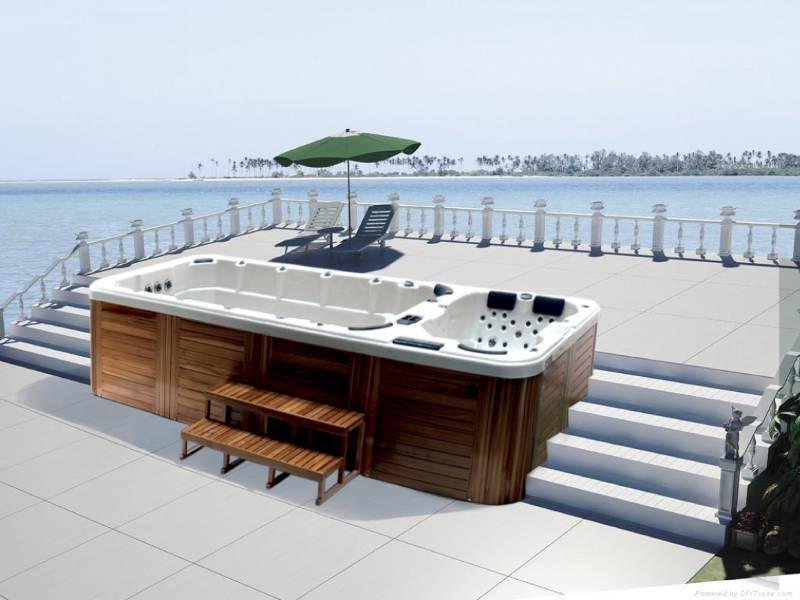 Vasche idromassaggio da esterno minipiscine spa for Vasche idromassaggio da esterno