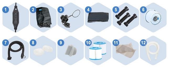 kit idromassaggi gonfiabile aspen